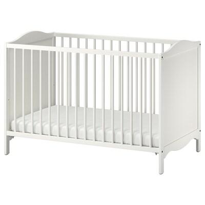SMÅGÖRA СМОГЕРА Ліжко для немовлят, білий, 60x120 см