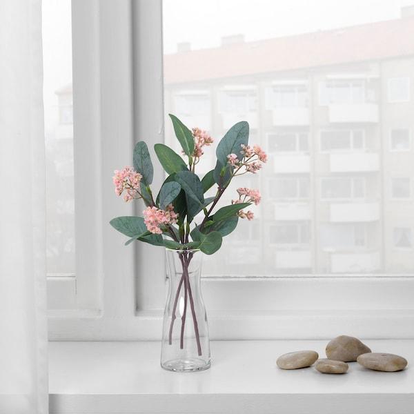 SMYCKA СМЮККА Штучна квітка, евкаліпт/рожевий, 30 см