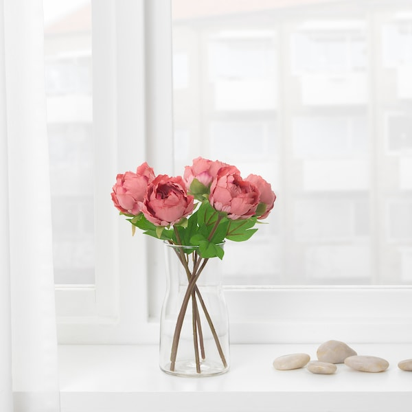 SMYCKA СМЮККА Штучна квітка, Півонія/темно-рожевий, 30 см