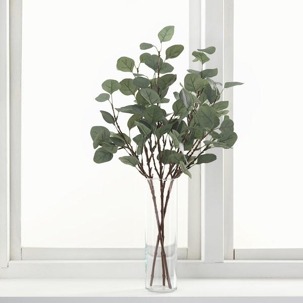SMYCKA СМЮККА Штучний листок, евкаліпт/зелений, 65 см