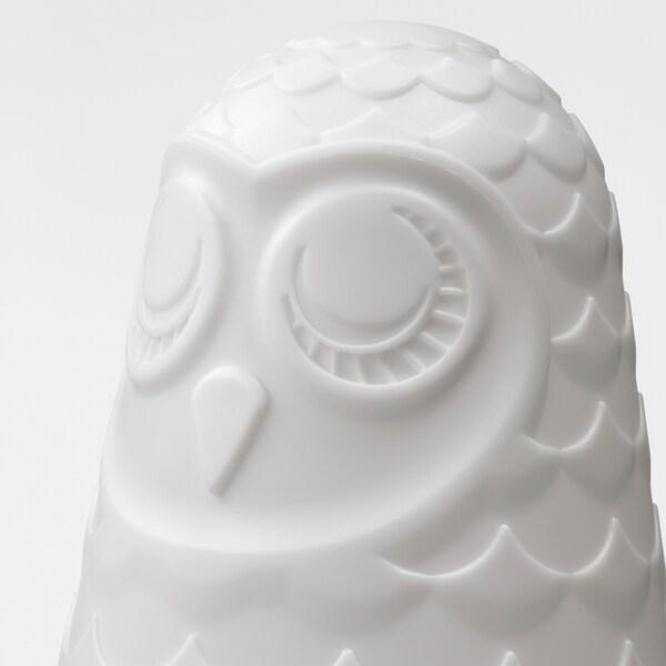 SOLBO СОЛЬБУ LED настільна лампа, білий/сова, 23 см