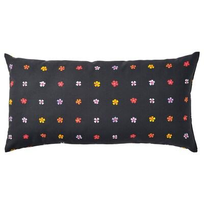 SOMMARBINKA СОММАРБІНКА Подушка, чорний/різнобарвний, 30x58 см