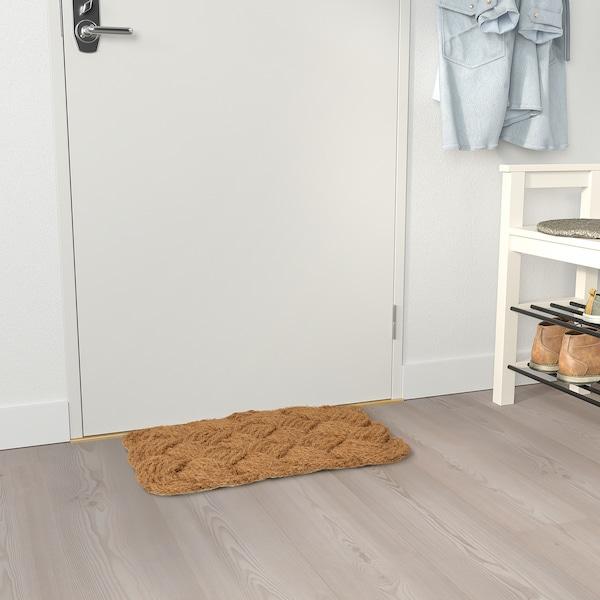 STAVREBY СТАВРЕБЮ Килимок під двері, для приміщення, ручна робота/заплетений натуральний, 40x60 см