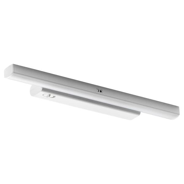 STÖTTA СТЕТТА LED підсвітка для шафи/сенсор, на батерейках білий, 32 см