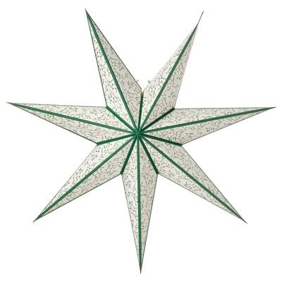 STRÅLA СТРОЛА Абажур, листок золотавий/горох, 70 см