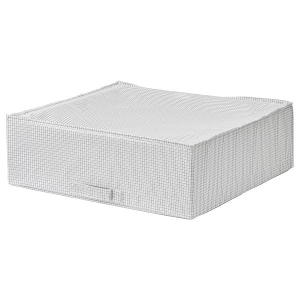 STUK СТУК Коробка для зберігання, білий/сірий, 55x51x18 см