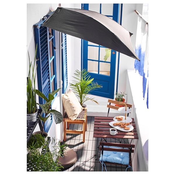 ТЕРНО стілець, вуличний складаний чорний/світло-коричневий морений 110 кг 39 см 40 см 79 см 39 см 28 см 45 см