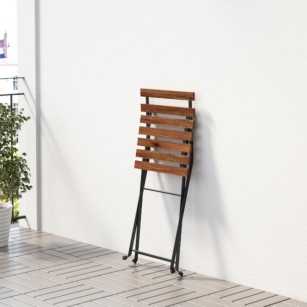 TÄRNÖ ТЕРНО Стіл+4 стільці, вуличний, чорний/світло-коричневий морений