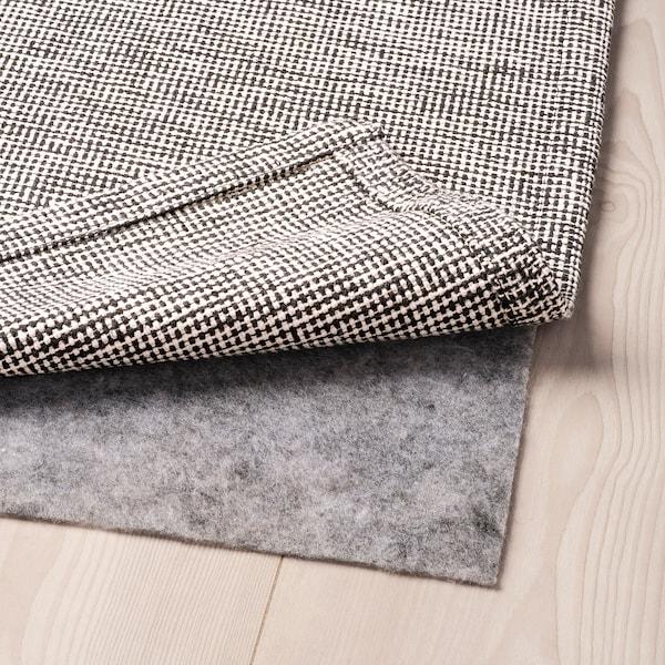 ТІПХЕДЕ килим, пласке плетіння сірий/білий 220 см 155 см 2 мм 3.41 м² 700 г/м²