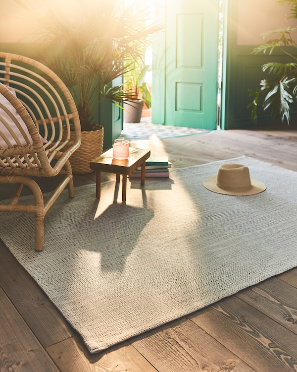 ТІПХЕДЕ килим, пласке плетіння натуральний/кремово-білий 180 см 120 см 2 мм 2.16 м² 700 г/м²