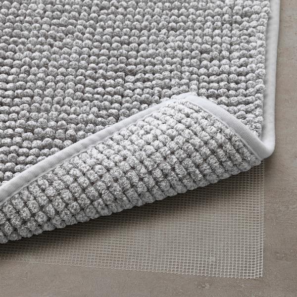 ТОФТБО килимок для ванної кімнати сіро-білий меланж 80 см 50 см 0.40 м² 1410 г/м²