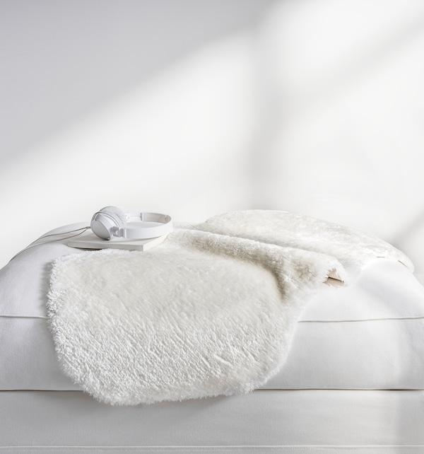 TOFTLUND ТОФТЛУНД Килим, білий, 55x85 см