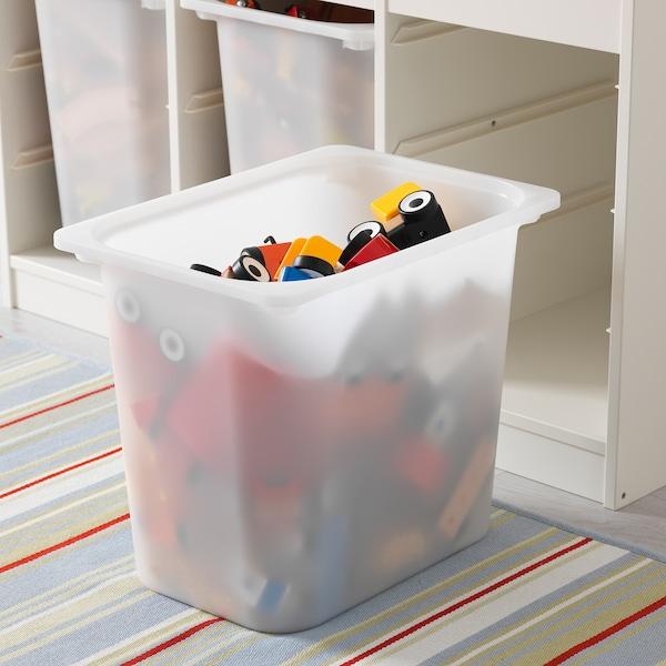 ТРУФАСТ комбінація для зберіган +контейнери білий/білий 99 см 44 см 56 см