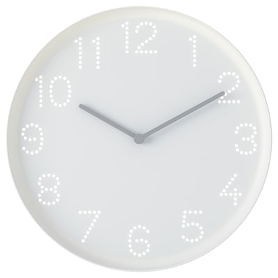 TROMMA ТРОММА Годинник настінний, білий, 25 см