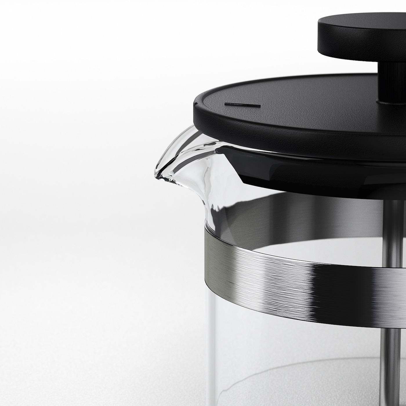 УППХЕТТА френч-прес/заварник для чаю скло/нержавіюча сталь 22 см 10 см 1 л