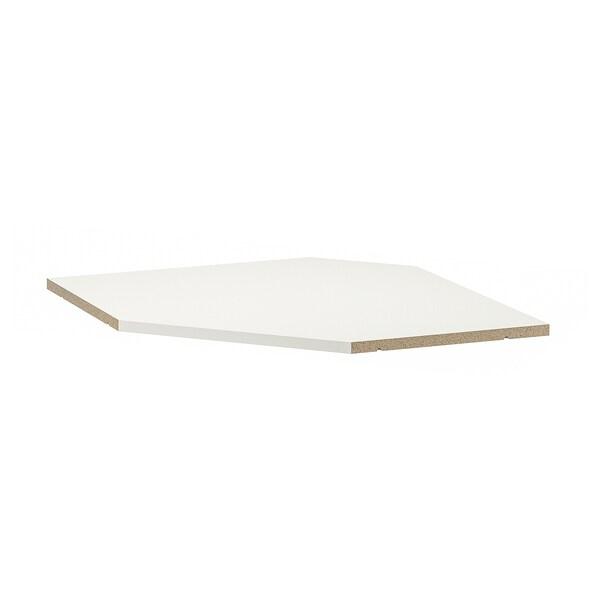 УТРУСТА полиця для кутової навісної шафи білий 63.4 см 67.5 см 63.4 см 67.5 см 1.8 см 15 кг