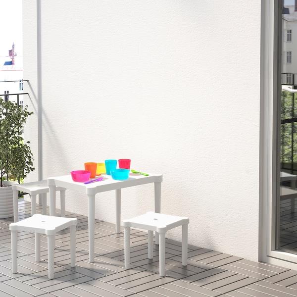 UTTER УТТЕР Дитячий стіл, для приміщення/вулиці/білий