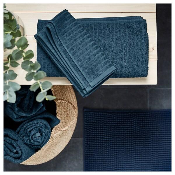 ВОГШЕН банний рушник  темно-синій 140 см 70 см 0.98 м² 400 г/м²