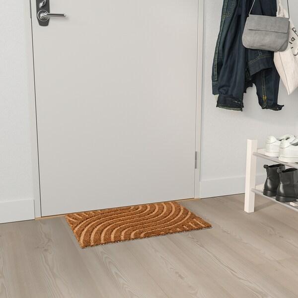 VALLENSVED ВАЛЛЕНСВЕД Килимок під двері, для приміщення, натуральний, 40x60 см