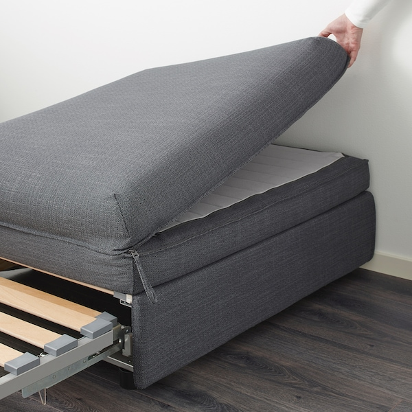 VALLENTUNA ВАЛЛЕНТУНА Модуль дивана-ліжка, ХІЛЛАРЕД темно-сірий
