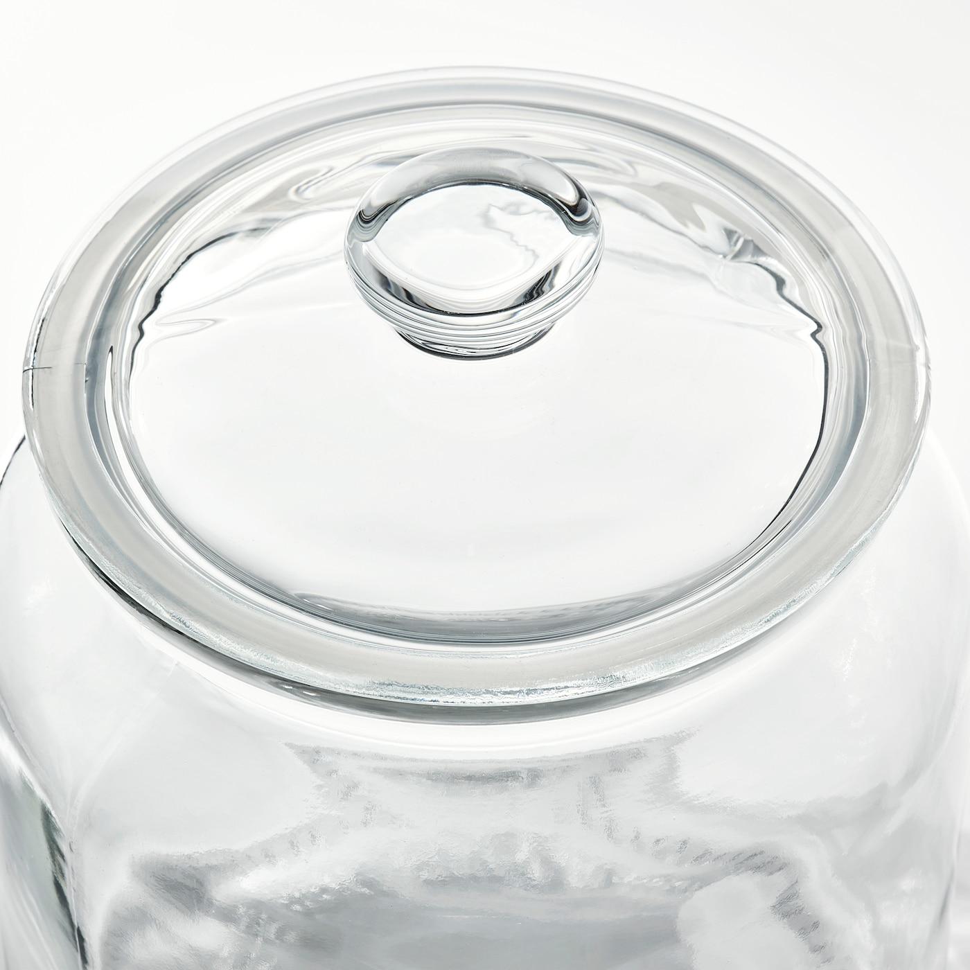 ВАРДАГЕН банка із кришкою прозоре скло 18 см 15 см 1.9 л