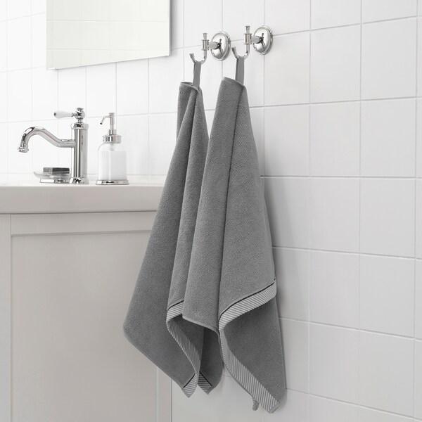 ВІКФЙЕРД Рушник для рук, сірий, 50x100 см