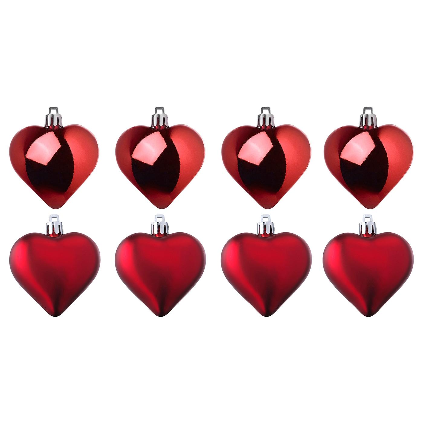 VINTER 2020 ВІНТЕР 2020 Прикраса підвісна - у формі серця червоний
