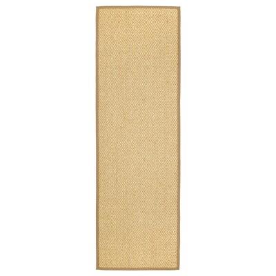 VISTOFT ВІСТОФТ Килим, пласке плетіння, натуральний, 80x250 см