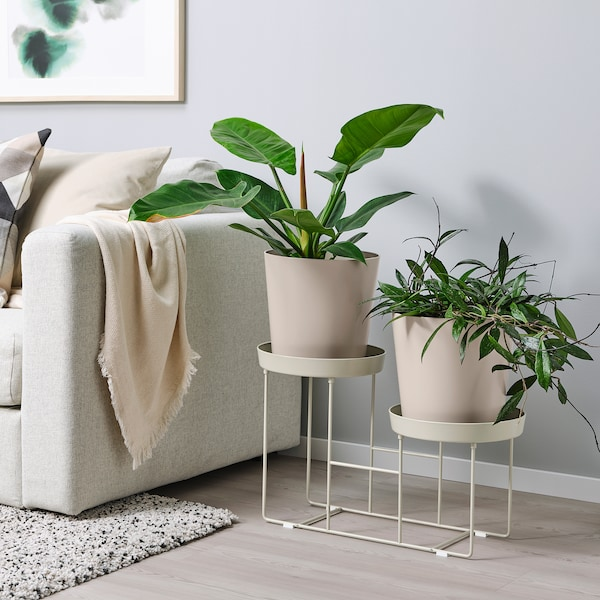 VITLÖK ВІТЛЕК Підставка для рослин, для приміщення/вулиці бежевий, 38 см