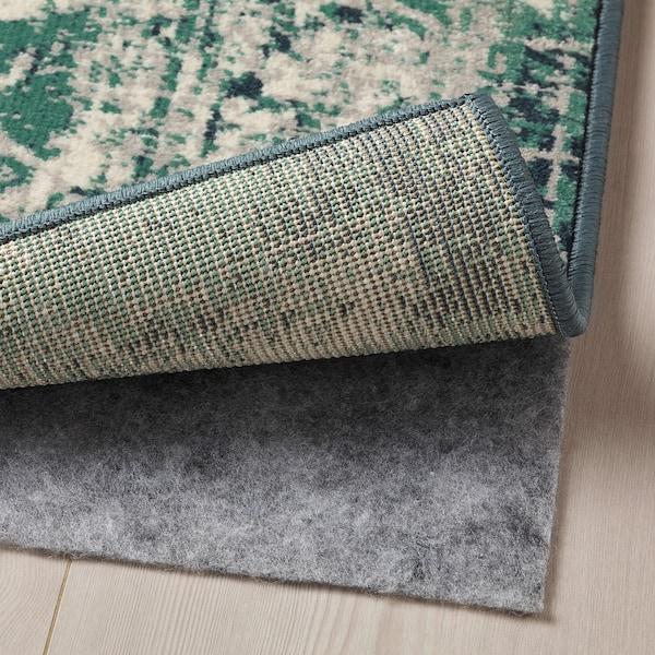 ВОНСБЕК килим, короткий ворс зелений 195 см 133 см 8 мм 2.59 м² 1700 г/м² 645 г/м² 6 мм