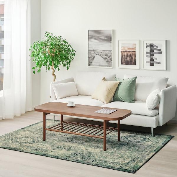 ВОНСБЕК килим, короткий ворс зелений 230 см 170 см 8 мм 3.91 м² 1700 г/м² 645 г/м² 6 мм