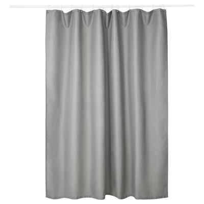 "ADDARN Shower curtain, light gray, 71x71 """