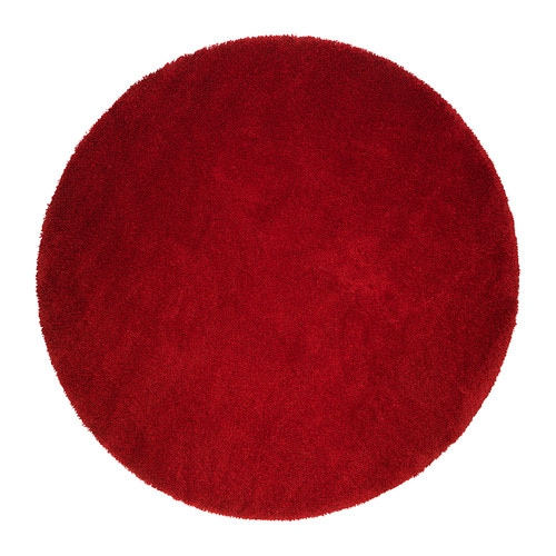 Sale alerts for Ikea ÅDUM Rug, high pile, bright red - Covvet