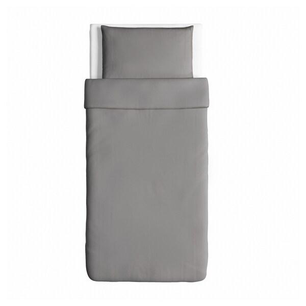 """ÄNGSLILJA duvet cover and pillowcase(s) gray 125 /inch² 1 pack 86 """" 64 """" 20 """" 30 """""""