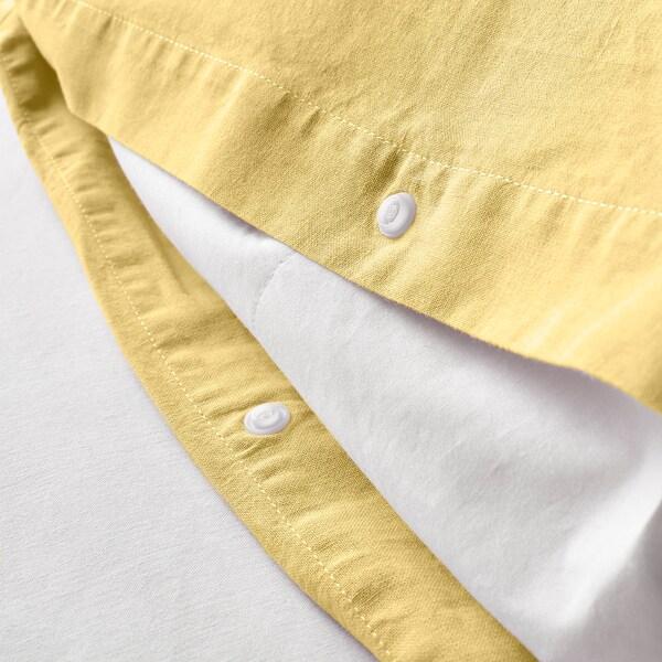 ÄNGSLILJA Duvet cover and pillowcase(s), light yellow, Full/Queen (Double/Queen)