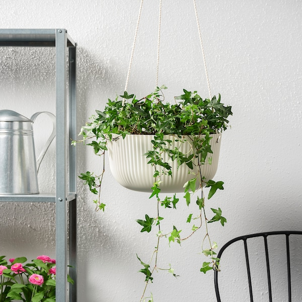 """ÄPPELROS Hanging planter, indoor/outdoor off-white, 10 ¾ """""""