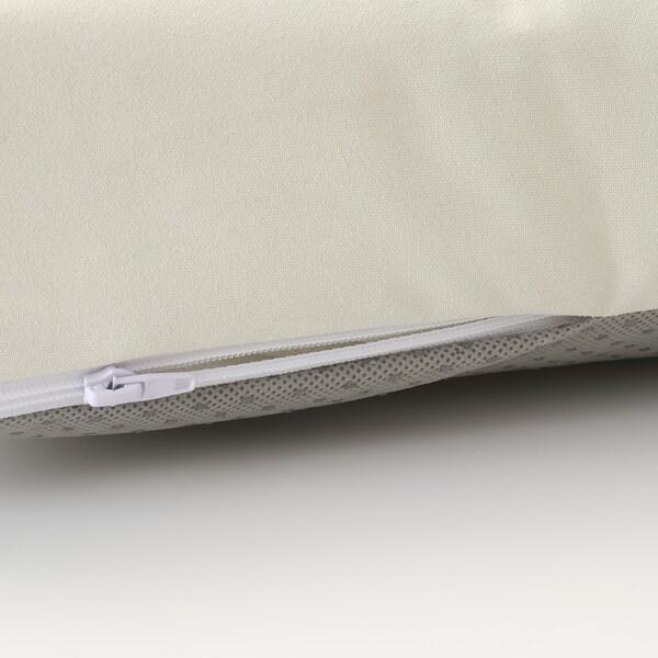 "ÄPPLARÖ 2-seat modular sofa, outdoor, brown stained/Kuddarna beige, 63x31 1/2x31 1/2 """