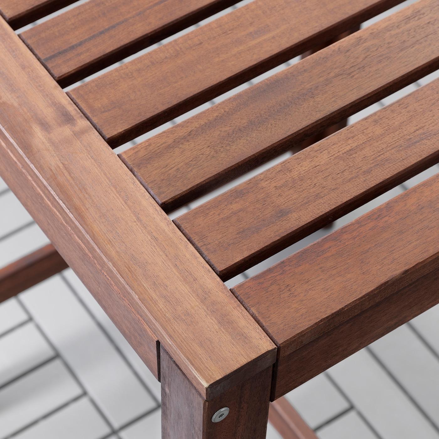 ÄPPLARÖ Bar table and 2 bar stools, outdoor, brown stained/Frösön/Duvholmen dark gray