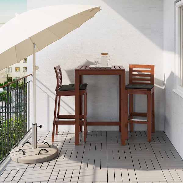 ÄPPLARÖ Bar table, outdoor, brown stained