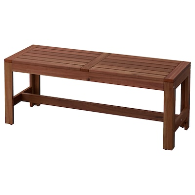 ÄPPLARÖ Bench, outdoor, brown stained, 44 7/8 ""