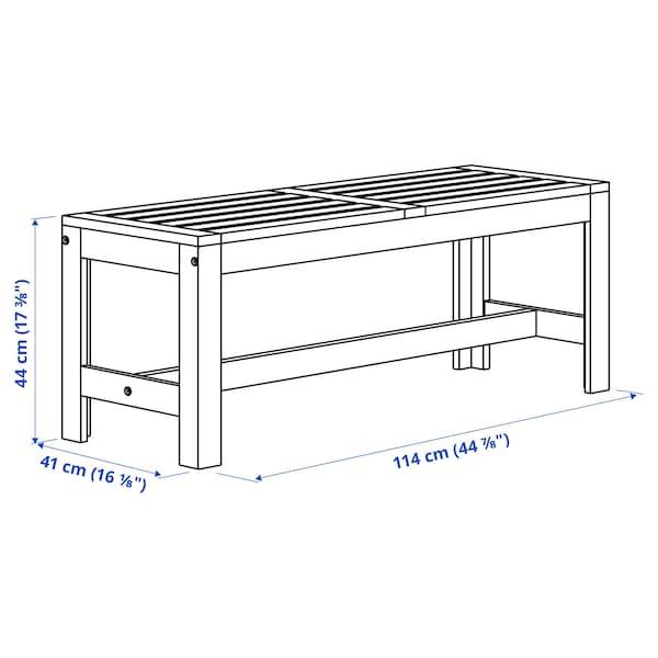 "ÄPPLARÖ Bench, outdoor, brown stained, 44 7/8 """