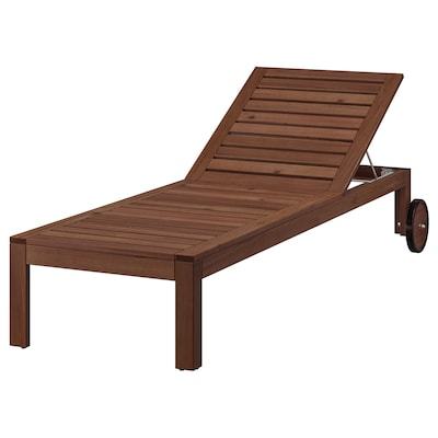 ÄPPLARÖ Chaise, brown stained