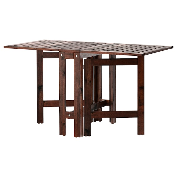 Marvelous Gateleg Table Outdoor Applaro Brown Stained Brown Andrewgaddart Wooden Chair Designs For Living Room Andrewgaddartcom