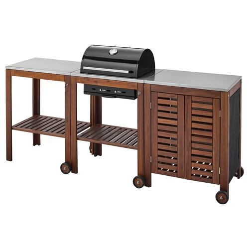 IKEA ÄPPLARÖ / KLASEN Charcoal grill with cart & cabinet