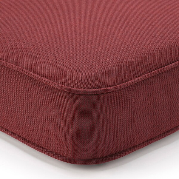 "ÄPPLARÖ Modular corner sofa 3-seat, outdoor, brown stained/Järpön/Duvholmen brown-red, 56 1/4/87 3/4x31 1/2x33 7/8 """