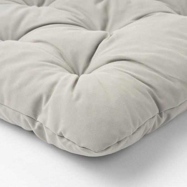 "ÄPPLARÖ Modular corner sofa 3-seat, outdoor, brown stained/Kuddarna gray, 56 1/4/87 3/4x31 1/2x31 1/2 """