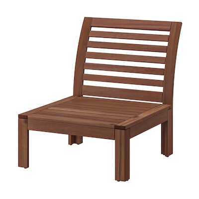 "ÄPPLARÖ one-seat section, outdoor brown stained 24 3/4 "" 31 1/2 "" 28 3/4 "" 24 3/4 "" 24 3/4 "" 11 """