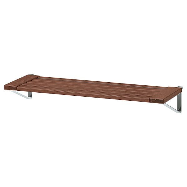 "ÄPPLARÖ shelf for wall panel, outdoor brown stained 26 3/4 "" 10 5/8 "" 3/4 """