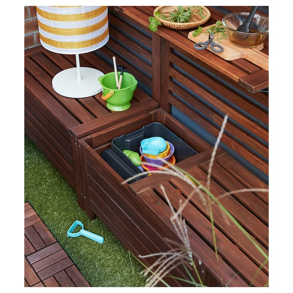 Excellent Storage Bench Outdoor Applaro Brown Stained Brown Lamtechconsult Wood Chair Design Ideas Lamtechconsultcom