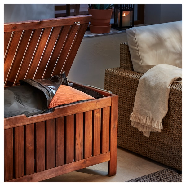 Fine Storage Bench Outdoor Applaro Brown Stained Brown Creativecarmelina Interior Chair Design Creativecarmelinacom
